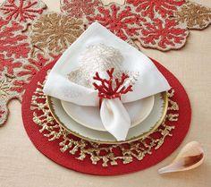 Shop Coral Branch Napkin Ring in Coral | Kim Seybert
