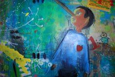 Pinocchio - Acryl auf Leinwand