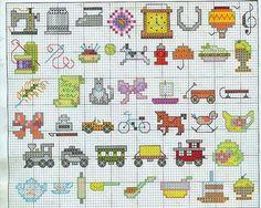 Raccolta di mini-schemi a punto croce