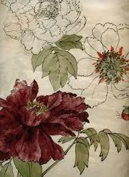 peonies from a japanese meiji era sketchbook. Illustration Botanique, Art Et Illustration, Botanical Illustration, Illustrations, Art Floral, Motif Floral, Floral Fabric, Botanical Drawings, Botanical Prints