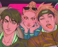 the trio by Afternoontm on DeviantArt Manga Art, Manga Anime, Anime Art, Aesthetic Anime, Aesthetic Art, Pretty Art, Cute Art, Reference Manga, Wow Art