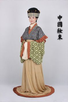 outfit for women in the end of Han Dynasty and the era of the Three Kingdoms