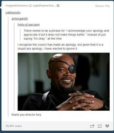 Thank you Director Fury!!