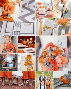 Trouwen - bruiloft blog - love the orange and gray