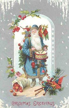 Santa!  Vintage postcard.