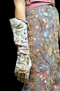 Vivienne Westwood, Spring 2012  Loose glove, almost a gauntlet. Fabulous work.