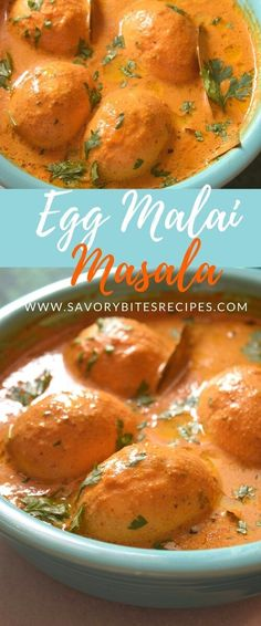 Flavorful,yet very elegant Egg Malai Masala ,cooked in fragrant spices and goes so well with naan or rice! A wonderful pos. Entree Recipes, Egg Recipes, Indian Food Recipes, Asian Recipes, Great Recipes, Dinner Recipes, Favorite Recipes, Asian Foods, Family Recipes