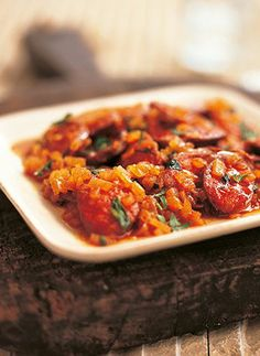 Chorizo tapas with cider and sweet paprika