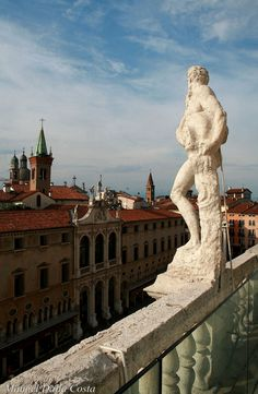 View from the terrace of the Palladian Basilica - Vicenza, Veneto, Italy