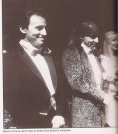 Bruce being the best man at Stevie and Maureens new years wedding, 1982