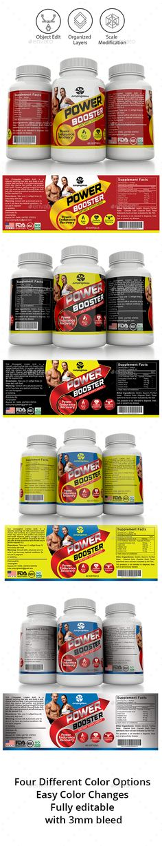 Supplement Label Template Vol-11 - #Packaging Print Templates - abel templates psd