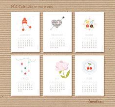 Printable calendar. So adorable.