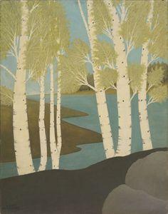 Emile Branchard (American, Spring Lake, n. Oil on canvas, 28 x 22 in. Landscape Paintings, Landscapes, Spring Lake, Museum Of Fine Arts, Western Art, Summer Art, Long Island, Art Music, American Art