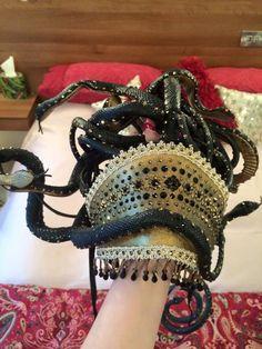 Bespoke Adora Belle Burlesque Theatre Show Medusa Swarovski Costume Headpiece in Clothes, Shoes & Accessories, Fancy Dress & Period Costume, Fancy Dress | eBay