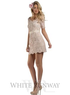 Blush Lyra Lace Dress by HBSHE