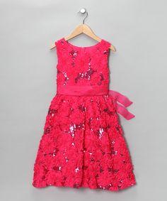 Pink & Fuchsia Sequin Dress - Girls