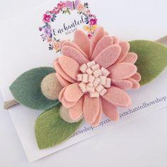 Felt flower daisy headband daisy headband felt flower crown