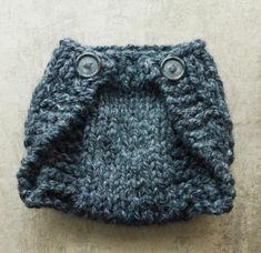 Knitted Newborn Diaper Cover Tutorial
