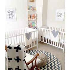 Double The Love For This Mod Minimalist Twins Nursery Via Tellem604
