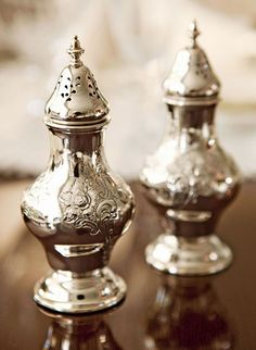 salt and pepper shakers  are Gorham silver