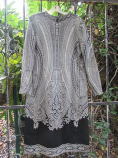 Runway Couture Most Incredible Boho Paisley Long Sleeve Designer Dress XLarge  #PalmBeachBoutique #paisley #WeartoWork