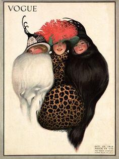 ⍌ Vintage Vogue ⍌ art and illustration for vogue magazine covers - October 1912 cover, illustrated by Sarah Stilwell Weber. Magazine Mode, Magazine Art, Old Magazines, Vintage Magazines, Fashion Magazines, Vintage Artwork, Vintage Posters, Vanity Fair, Art Nouveau