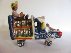 Vintage Old Mexican Pottery Truck  Folk Art Mexico Ocumicho Michoacan