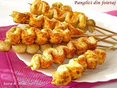 Panglici din foietaj 1 Cauliflower, Good Food, Food And Drink, Sweets, Chicken, Meat, Vegetables, Ethnic Recipes, Party