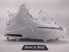 3167bc92d Nike Men s Air Max MVP Elite II 2 Metal Baseball Cleats sz 11 (684687-100)  White