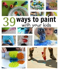 Creative painting ideas for kids. Did you see # 32 ?