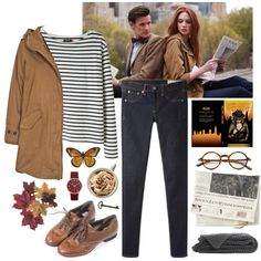 Amelia by throwmeadream on Polyvore featuring мода, Wood Wood, Woolrich, rag & bone/JEAN, Ganzi, Marc by Marc Jacobs, Tom Ford, doctorwho and amypond