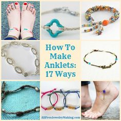 Diy Jewelry Anklet How To Make 24 Best Ideas Diy Jewelry Fußkettchen Wie man 24 beste Ideen ma Beaded Anklets, Anklet Jewelry, Anklet Bracelet, Beaded Jewelry, Beaded Bracelets, Jewlery, Women's Jewelry, Jewelry Ideas, Bracelet Patterns