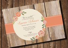 Rustic Floral Invitation - Custom