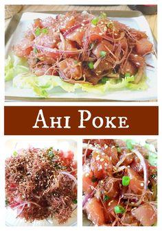 Ahi Poke Recipe - Hawaiian-style raw tuna salad