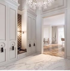 Super classic home furniture entryway Ideas Luxury Homes Interior, Luxury Home Decor, Home Interior Design, Flur Design, Plafond Design, Classic Home Furniture, Classic Interior, Style At Home, Appartement Design