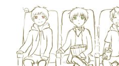 Hetalia GIF Kawaii. Don't ship, but it's cute