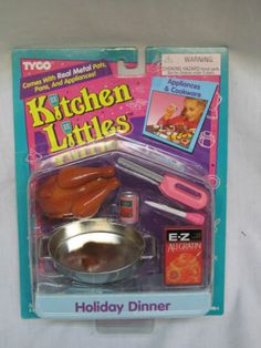 Kitchen Littles Holiday Dinner Set by Tyco, 1995