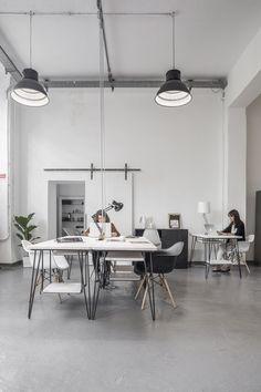 Our Studio, Milano Loft Studio, Industrial Loft, Home Office, Table, Frames, Ceiling, Furniture, Home Decor, Ceilings