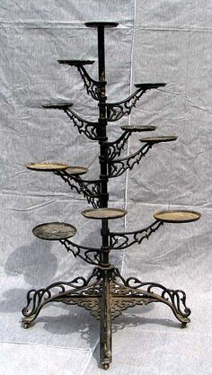 vintage iron plant stand | spiral plant stand