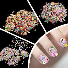 1000 Pieces/Bag 3 Series Fruit Flowers Animals DIY 3D Nail Art Decorations Nails Art Decoration Sticker Design