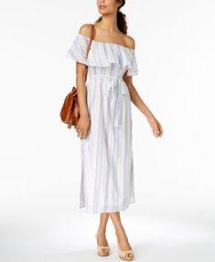 Cotton Off-The-Shoulder Dress, Created for Macy's | macys.com