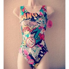 Comic Relief Gymnastics Leotard by Foxy's Fitness Fashions