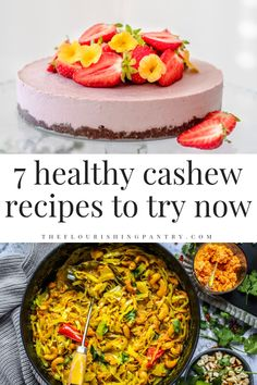 7 healthy cashew recipes to try now from The Flourishing Pantry. Cashews are a healthy and versatile ingredient. Check out 7 recipes from snacks and cakes to curries and main meals. Easy, quick and affordable healthy eating #cashewrecipes #healthyeating #cashews #eatwelllivewell #theflourishingpantry Healthy Eating, Healthy Mind, Vegetable Salad, Whole Foods Online, Eating Well, Clean Eating, Parmesan, Wellness Tips, Health And Wellness