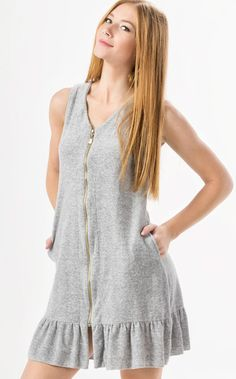 Swans Style is the top online fashion store for women. Simple Dresses, Casual Dresses, Casual Outfits, Fashion Outfits, Dress With Cardigan, Knit Dress, Autumn Fashion Curvy, Night Dress For Women, Pyjamas