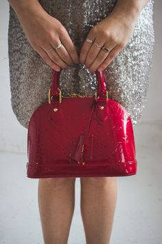 Louis Vuitton Red Alma BB