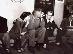 James Dean with Natalie Wood and Nicholas Ray on the set of Rebel Without a Cause