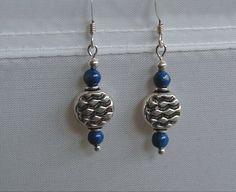 Stunning Steling Silver and Lapis Lazuli Dangle Earrings~Lapis Lazuli Earrings~Sterling Silver Earrings~Gemstone Earrings~Blue Earrings~