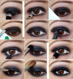 Tips para ojos ahumados o smokey eyes.                                                                                                                                                     More
