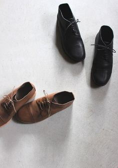 evam eva  vegetable tanned leather straight tip shoes