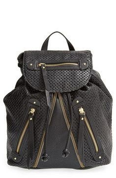 34fdd5373dc4 LP Blue  Zoe  Perforated Zip Backpack